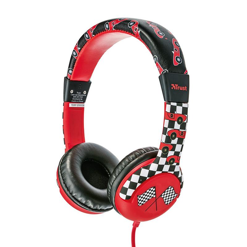 Headphones για Παιδιά Trust Spila Car - Κόκκινο