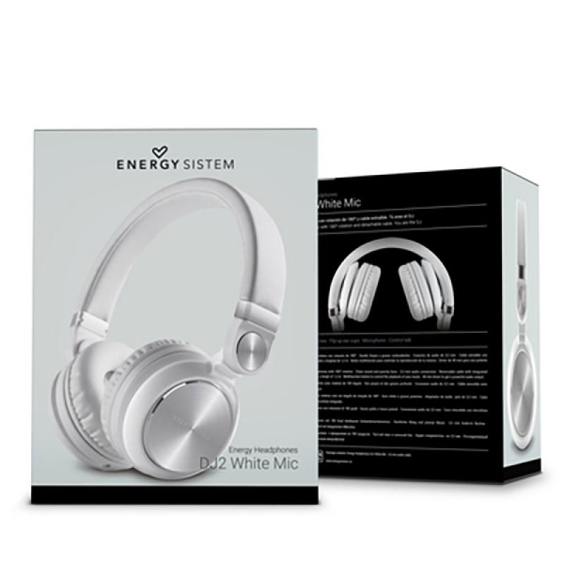 Headphones Energy Sistem DJ2 mic Άσπρα