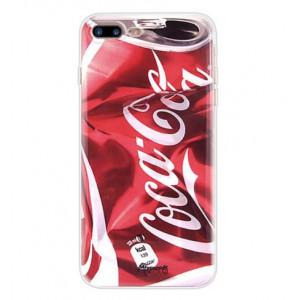 Θήκη Σιλικόνης με σχέδιο Coca cola για iPhone 7/8  - Διάφανη