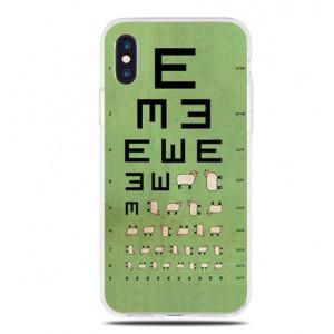 Θήκη Σιλικόνης με σχέδιο Test Όρασης για iPhone 7/8  - Διάφανη