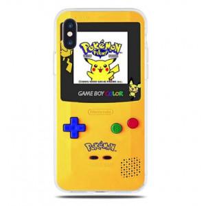 Θήκη Σιλικόνης με σχέδιο Game Boy Color για iPhone 7/8  - Διάφανη