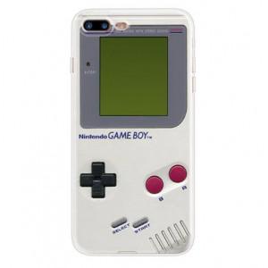 Θήκη Σιλικόνης με σχέδιο Game Boy για iPhone 7/8  - Διάφανη