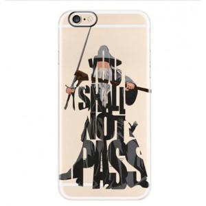 Θήκη Σιλικόνης με σχέδιο Lord of the Rings για iPhone 7/8  - Διάφανη