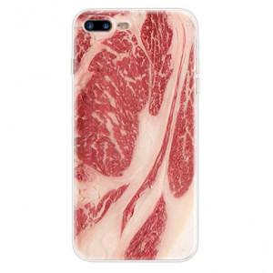 Θήκη Σιλικόνης με σχέδιο Ωμό κρέας για iPhone 7/8  - Διάφανη