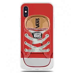 Θήκη Σιλικόνης με σχέδιο Vans για iPhone 7/8  - Διάφανη