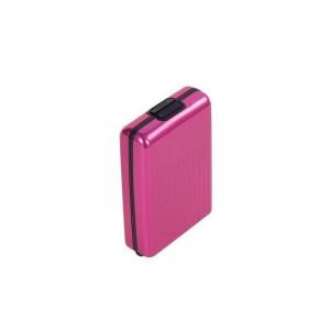 Πορτοφόλι καρτών  από αλουμίνιο - Ροζ