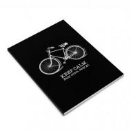 Σημειωματάριο MakeNotes Bike A5 80 φύλλα Καρέ - Μαύρο
