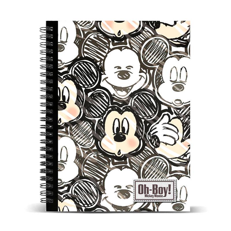 Τετράδιο Σπιράλ με Σκληρό Εξώφυλλο Disney με λογότυπο Mickey A4