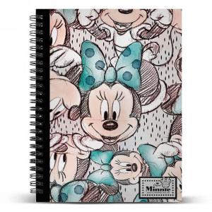 Τετράδιο Σπιράλ με Σκληρό Εξώφυλλο Disney με λογότυπο Minnie A5
