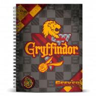 Τετράδιο Σπιράλ με Σκληρό Εξώφυλλο Quidditch αδελφότητα  Gryffindor A4