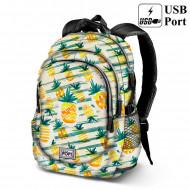Σχολική τσάντα backpack Oh My Pop Ανανάς 44cm