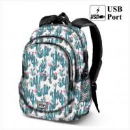 Σχολική τσάντα backpack Oh My Pop Κάκτος 44cm