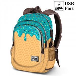 Σχολική τσάντα backpack Oh My Pop Ice Cream 44cm