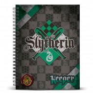 Τετράδιο Σπιράλ με Σκληρό Εξώφυλλο Quidditch αδελφότητα  Slytherin A4