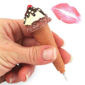 Στυλό και Λιπ Γκλος Χωνάκι Παγωτού