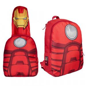 1a3fa0ed2e Σχολική Τσάντα Backpack με κουκούλα Cerda Marvel Avengers Iron Man 37cm