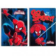 Τετράδιο σπιράλ με σκληρό εξώφυλλο Spiderman Marvel Action A4