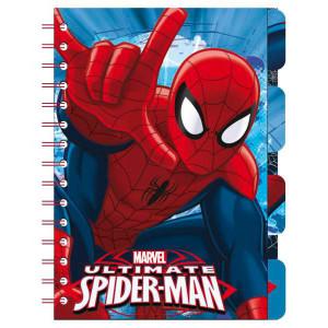Σημειωματάριο με σελιδοδείκτες και λογότυπο Spiderman