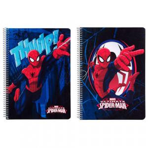Τετράδιο σπιράλ με σκληρό εξώφυλλο Spiderman Marvel Action A5
