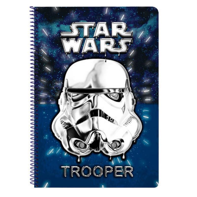 Τετράδιο σπιράλ με σκληρό εξώφυλλο Star Wars Neon A4
