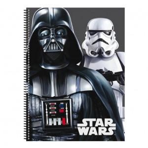 Τετράδιο Σπιράλ με Σκληρό Εξώφυλλο με λογότυπο Star Wars Flash A5