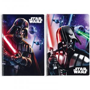 Τετράδιο σπιράλ με σκληρό εξώφυλλο Star Wars Saga A4