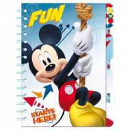 Σημειωματάριο με σελιδοδείκτες και λογότυπο Mickey