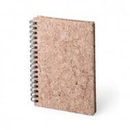 Σημειωματάριο από Φελλό με Δαχτυλίδια 145018 - 50 φύλλα