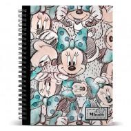 Τετράδιο Σπιράλ με Σκληρό Εξώφυλλο Disney με λογότυπο Minnie A4