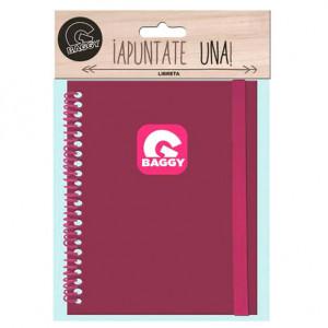 Σημειωματάριο Baggy - Ροζ-Φούξια